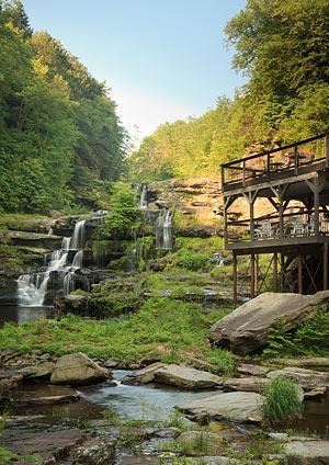 waterfalls near hotel