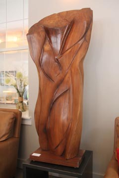 wooden piece of art