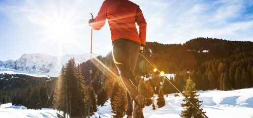 cross-country skiing is one of the best things to do during Poconos winter getaways